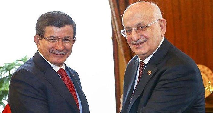 TBMM Başkanı Kahraman ile Başbakan Davutoğlu bir araya geldi.