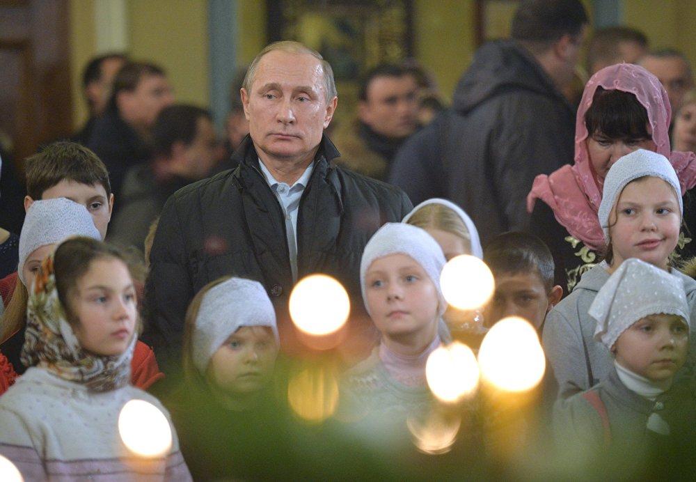 Vladimir Putin Noel ayininde