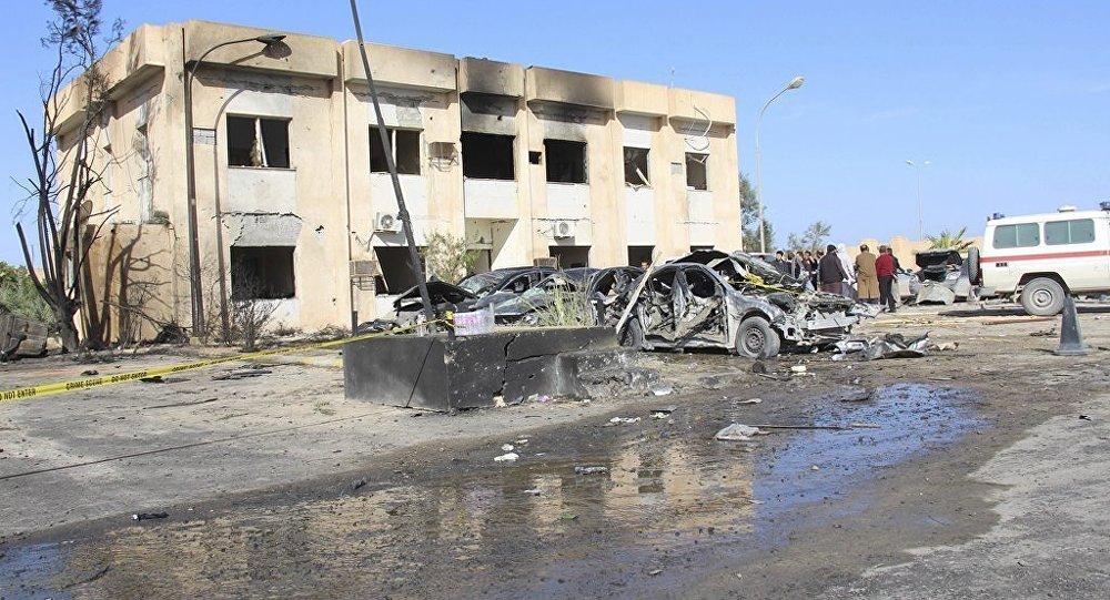 Libya'da polis okuluna saldırı