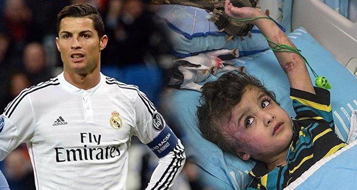 Ronaldo, yetim Filistinli Devabişe ile buluşacak