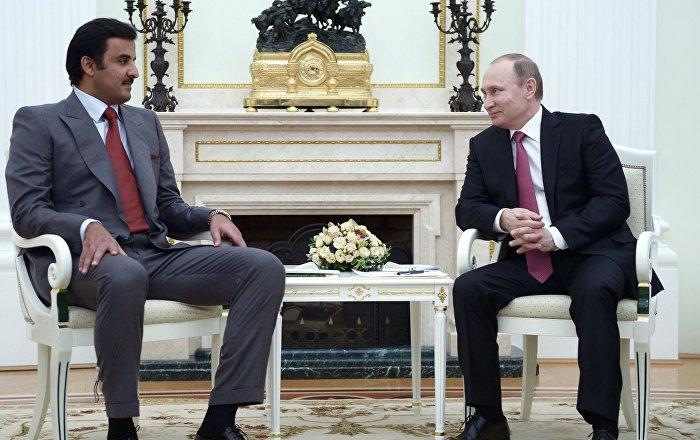Putin, Katar Emiri ile diplomasi krizini görüştü