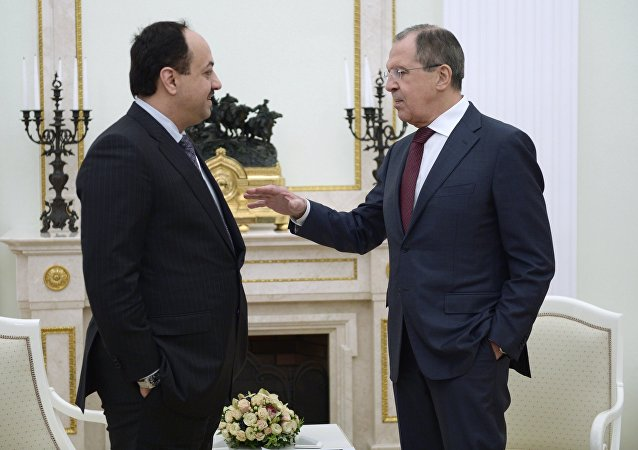 Rusya Devlet Başkanı Sergey Lavrov ve Katarlı mevkidaşı Halid el Attiye