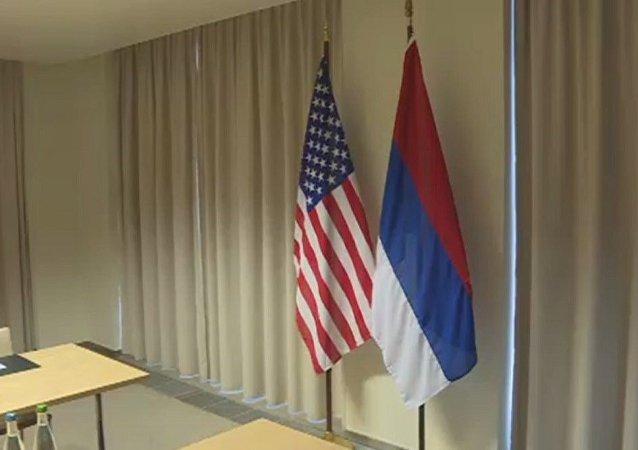ABD bayrağı- Rusya bayrağı