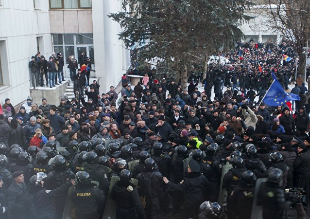 Moldova'da hükümet karşıtı gösteriler