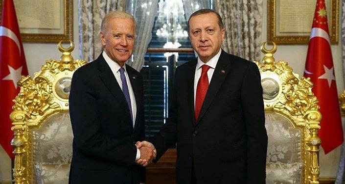 Cumhurbaşkanı Recep Tayyip Erdoğan ve ABD Başkan Yardımcısı Joe Biden