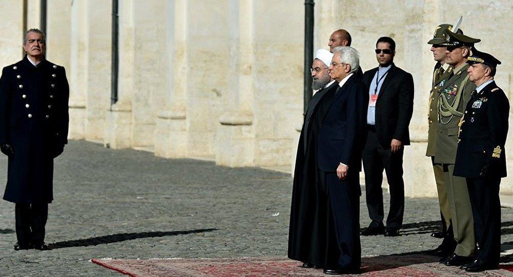 İran lideri Hasan Ruhani Roma'da İtalya Cumhurbaşkanı Sergio Mattarella ile biraraya geldi.