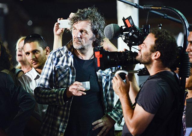 Emir Kusturica, 9. Küstendorf Film ve Müzik Festivali'nde.