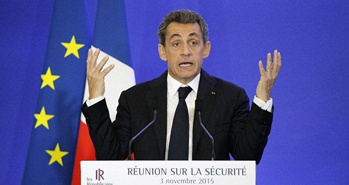 Eski Fransa Cumhurbaşkanı ve Cumhuriyetçiler Partisi lideri Nicolas Sarkozy
