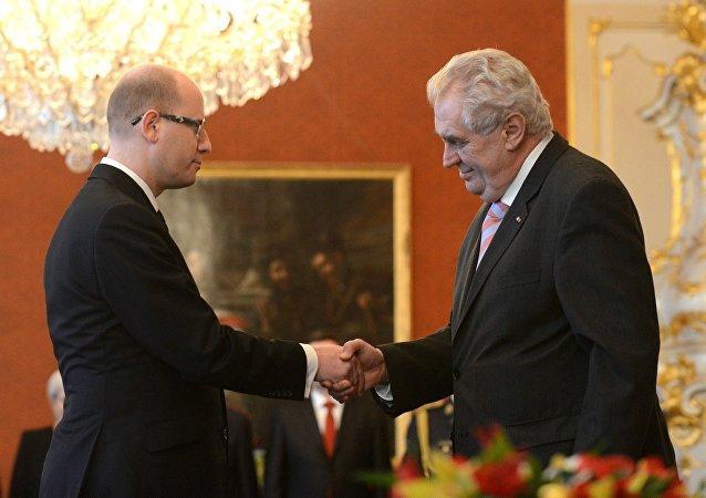 Çek Cumhuriyeti Başbakanı Bohuslav Sobotka - Çek Cumhuriyeti Cumhurbaşkanı Milos Zeman