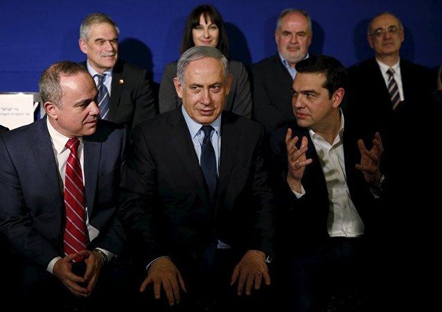 İsrail Başbakanı Benyamin Netanyahu- Yunanistan Başbakanı Aleksis Çipras