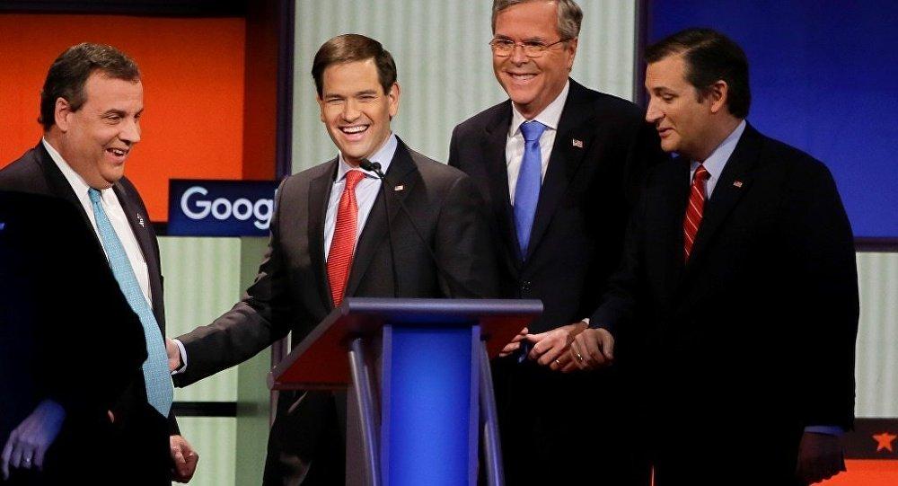 ABD'de Cumhuriyetçi Parti başkan adayları, televizyon tartışmasında bir araya geldi.