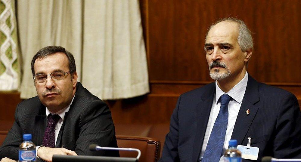 Cenevre'de düzenlenen Suriye görüşmelerine Suriye'nin BM Büyükelçisi Beşar Caferi katıldı.