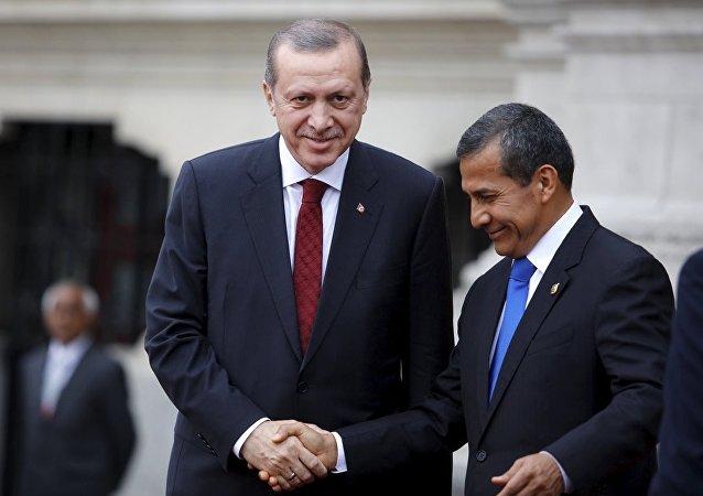 Türkiye Cumhurbaşkanı Recep Tayyip Erdoğan- Peru Devlet Başkanı Ollanta Humala