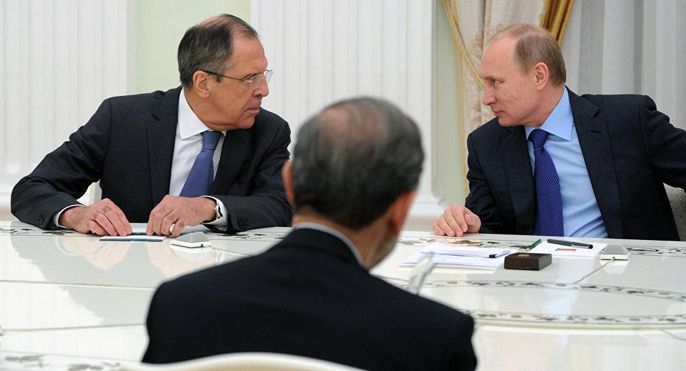 Vladimir Putin - Sergey Lavrov - Ali Ekber Velayeti