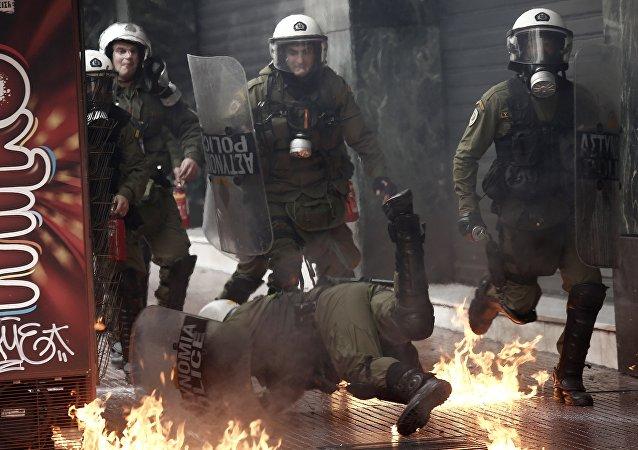 Yunanistan genel grev - Atina
