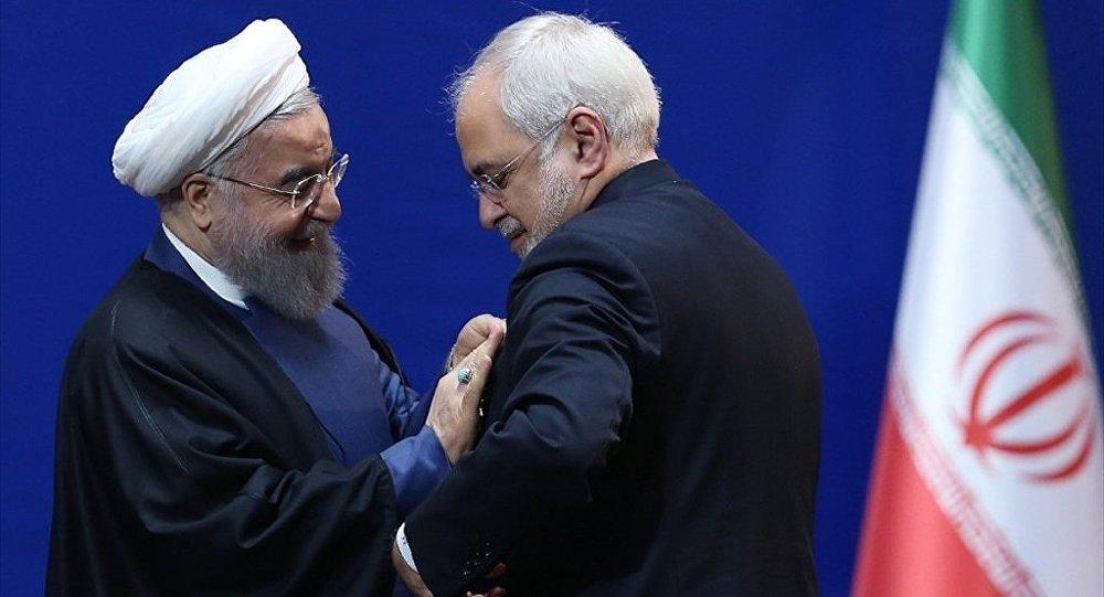İran Cumhurbaşkanı Hasan Ruhani ve Dışişleri Bakanı Muhammed Cevad Zarif