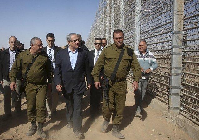 İsrail Başbakanı Benyamin Netanyahu - Ürdün sınırı
