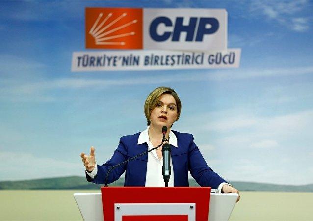 CHP Genel Başkan Yardımcısı ve Parti Sözcüsü Selin Sayek Böke, CHP Genel Merkezi'nde basın mensuplarına açıklamalarda bulundu ve soruları yanıtladı.