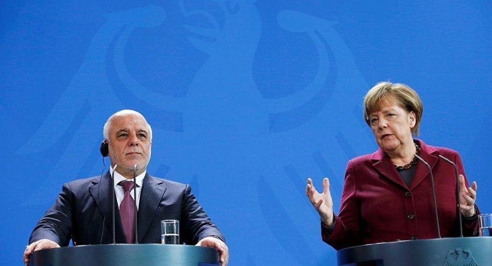 Almanya Başbakanı Angela Merkel ve Irak Başbakanı Haydar el İbadi.
