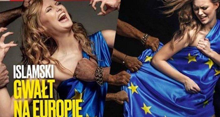 Polonya'da aşırı sağcı bir derginin sığınmacı kriziyle ilgili kapağı tepki çekti.