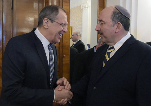 Rusya Dışişleri Bakanı Sergey Lavrov ve İsrail Dışişleri Bakanlığı Müsteşarı Dore Gold
