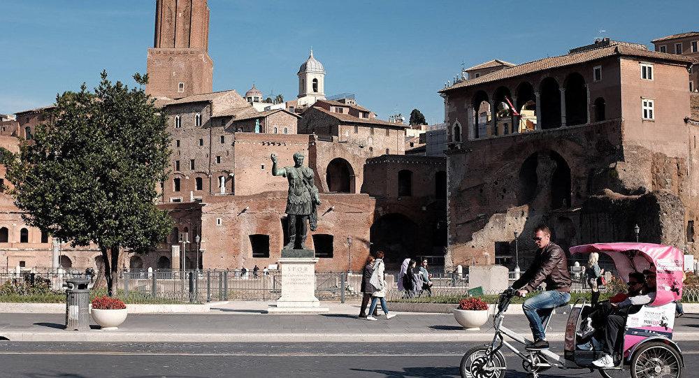 İtalya'da bir meydan