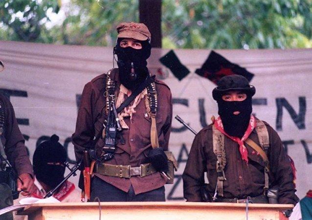 Meksika'da silahlı devrimci örgüt Zapatista Ulusal Kurtuluş Ordusu'nun (EZLN) 'eski' lideri Subcomandante Marcos