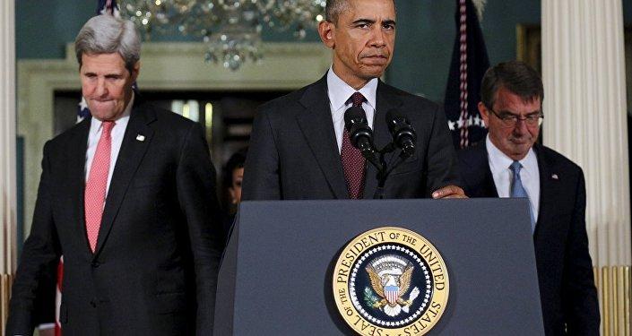 ABD Dışişleri Bakanı John Kerry- ABD Başkanı Barack Obama- ABD Savunma Bakanı Ashton Carter