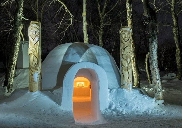 Rusya'nın ilk kardan oteli