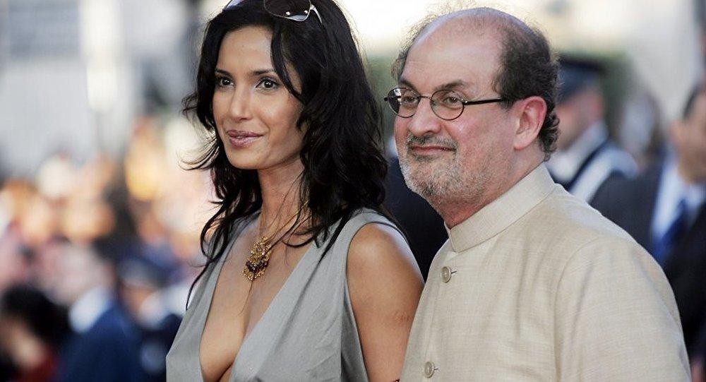 Hint asıllı İngiliz yazar Salman Rüşdi ve eski eşi Padma Lakshmi