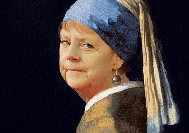 Angela Merkel İnci Küpeli Kız oldu