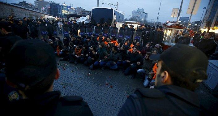 Taksim Ankara saldırı protestosu