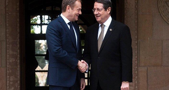 Kıbrıs Cumhurbaşkanı Nikos Anastasiadis ve Avrupa Komisyonu Başkanı Donald Tusk, Lefkoşe'de görüştü.