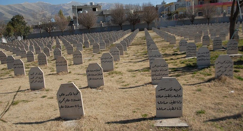 Halepçe'de kimyasal saldırı kurbanlarının mezarları