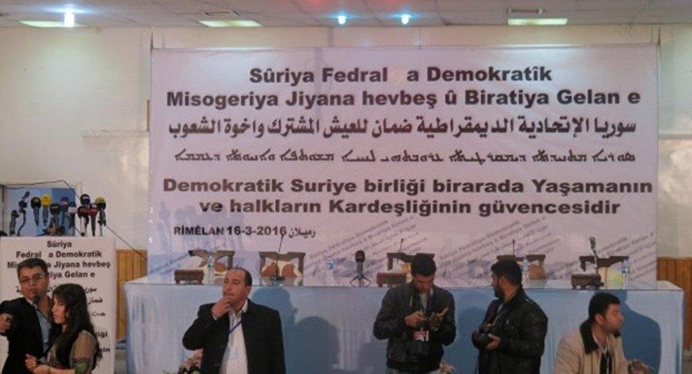 Rojava'da düzenlenen federalizm toplantısı