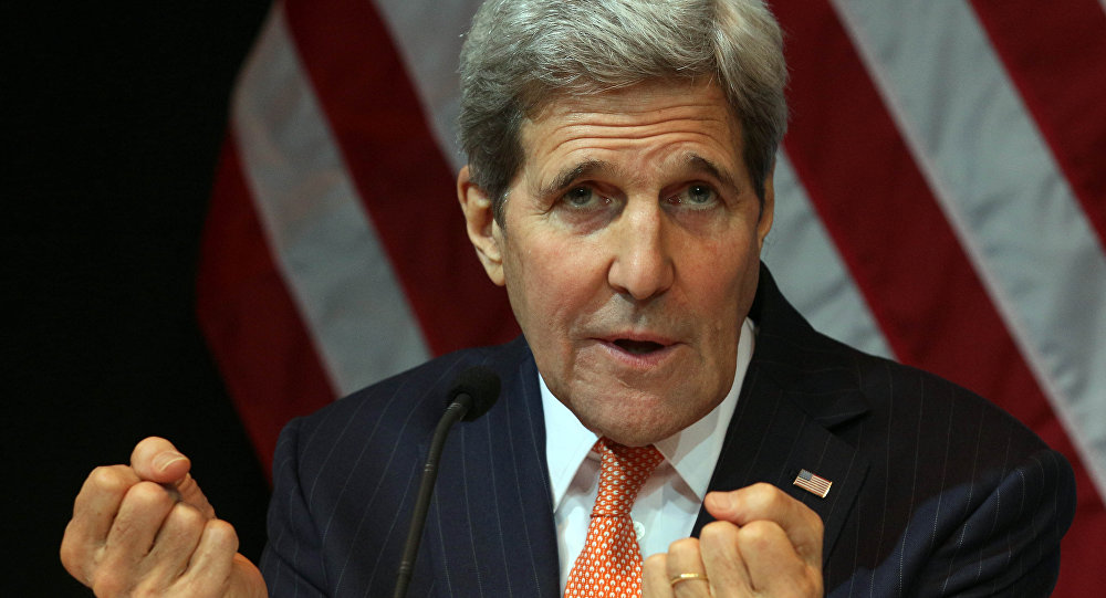 US Secretary of State John Kerry speaks during a news conference in Vienna, Austria, Saturday, Nov. 14, 2015