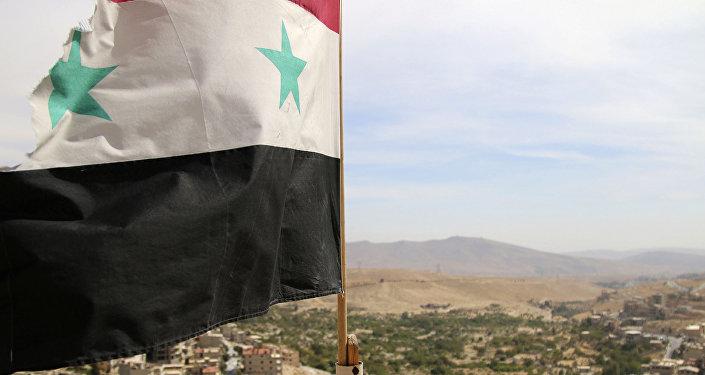 Suriye bayrağı - Malula kenti