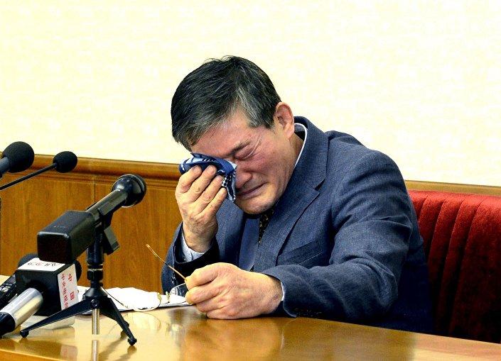 Kim, bir basın toplantısı düzenleyerek Kuzey Kore'nin askeri sırlarını ele geçirmeye çalıştığını 'itiraf etti.'