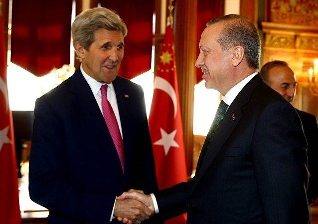 John Kerry - Tayyip Erdoğan