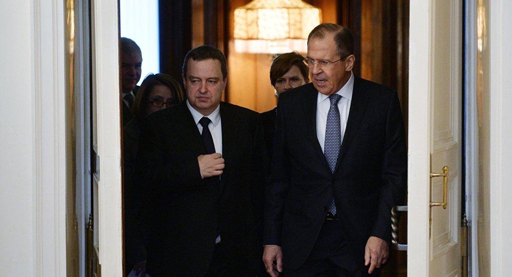 Rusya Dışişleri Bakanı Sergey Lavrov - Sırbistan Dışişleri Bakanı Ivica Dacic