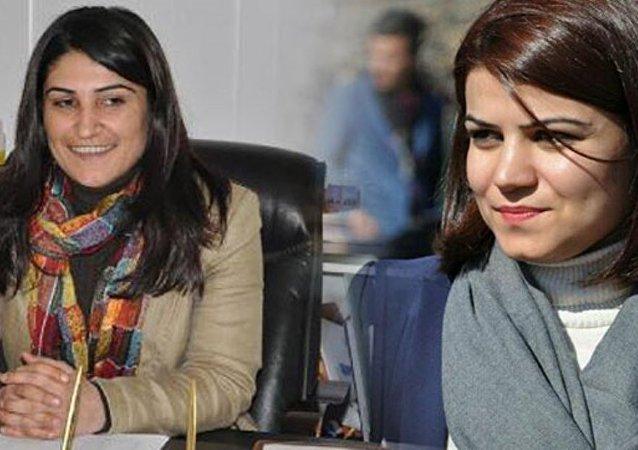 DBP eş başkanları Leyla Salman ile Zeynep Sipçik