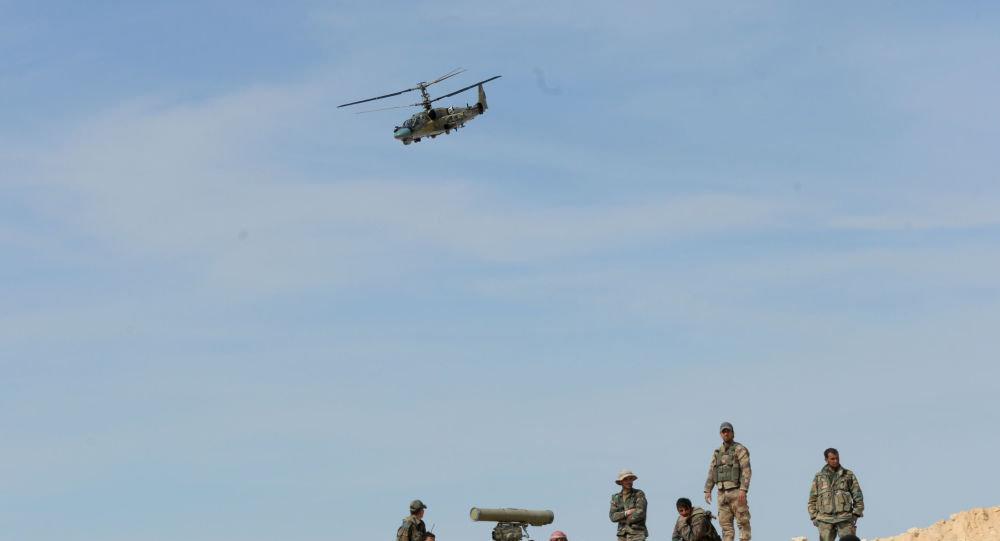 Ka-52 helikopteri Suriye'de
