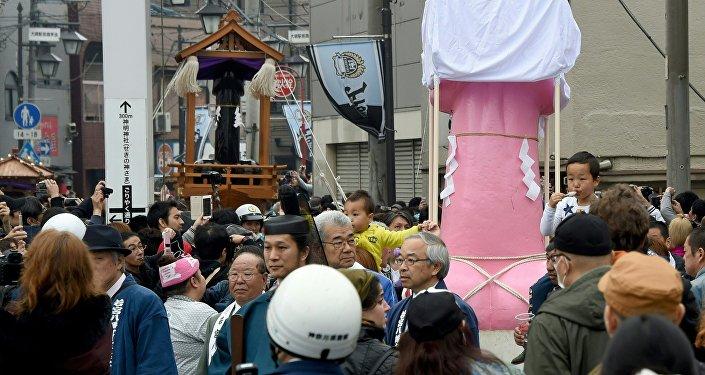 Japonya'da penis festivali