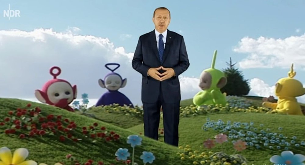 Erdoğan Almanya'da yine mizah konusu