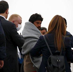 Midilli'den Dikili'ye geri gönderilen sığınmacılar