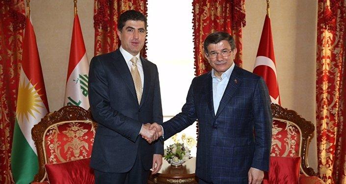 IKBY Başbakanı Neçirvan Barzani- Türkiye Başbakanı Ahmet Davutoğlu