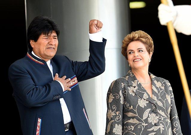 Bolivya lideri Evo Morales- Brezilya Devlet Başkanı Dilma Rousseff
