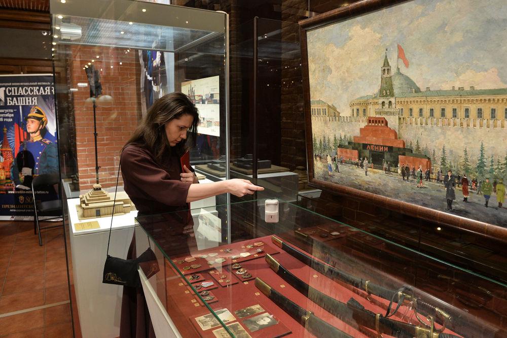 1941 yılına ait olan Moskova Kremlinin korunmasıyla ilgili belgeler ilk kez sergileniyor.