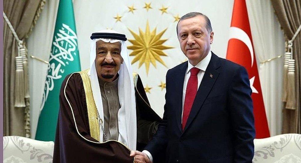 Cumhurbaşkanı Recep Tayyip Erdoğan ile Suudi Arabistan Kralı Selman bin Abdülaziz Al Suud