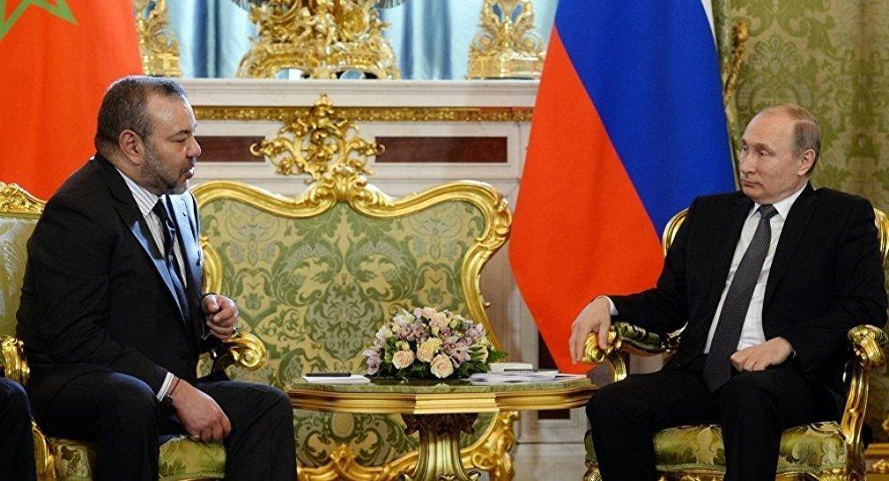 Rusya Devlet Başkanı Putin - Fas Kralı VI Muhammed